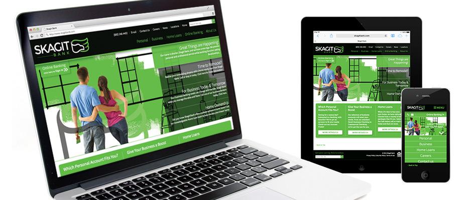 Skagit Bank Responsive Website Design and Development by BrandQuery