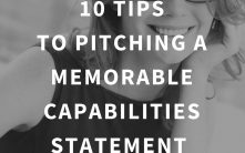 10 Tips to make your Capabilities Statement Pitch Memorable (…the right kind of memorable.)