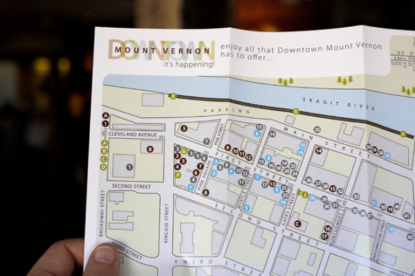 Downtown Mount Vernon Brochure with a Map