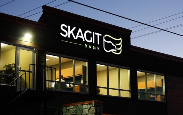 Skagit Bank Illuminated Environmental Signage
