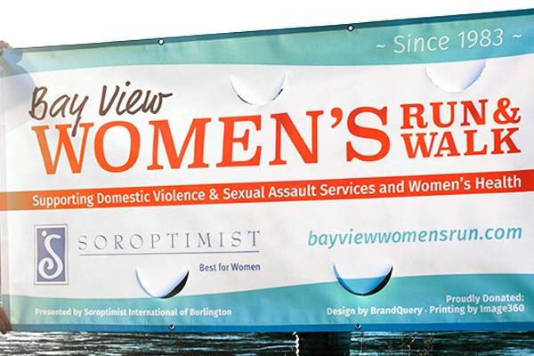Bay View Women's Run and Walk Vinyl Banner