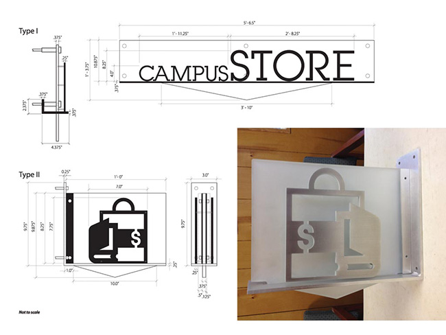 Bellingham Technical College Dimensional Signage Schematic