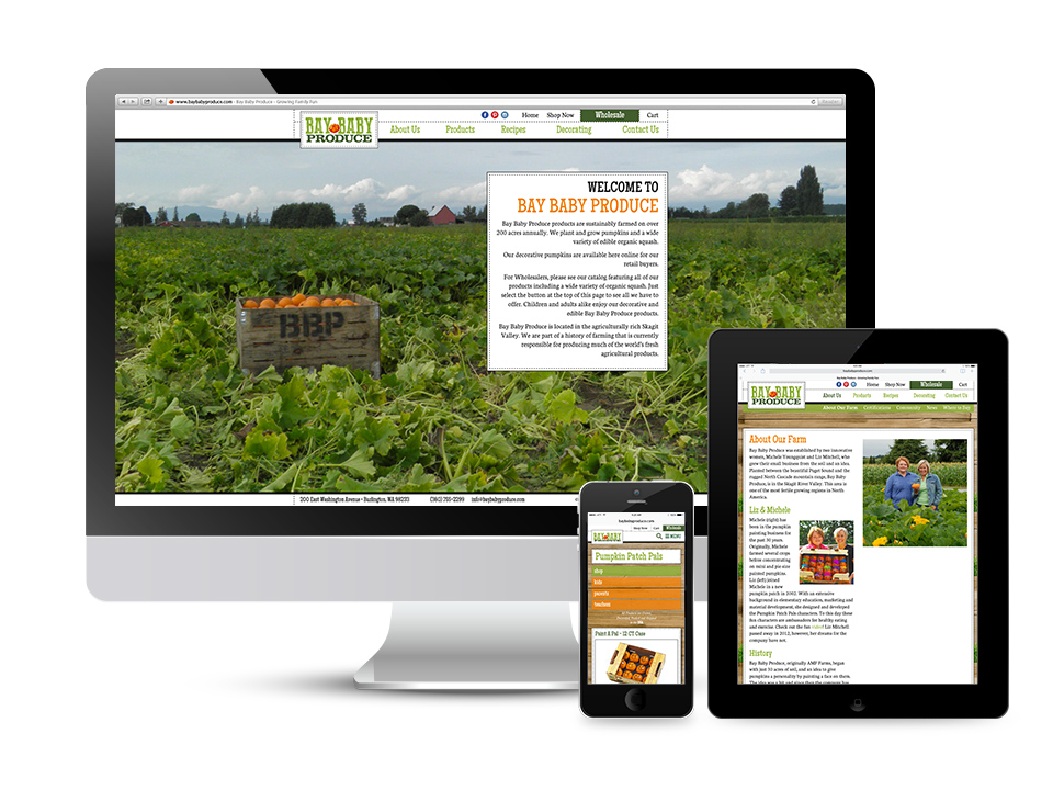Bay Baby Produce Responsive Designed Website