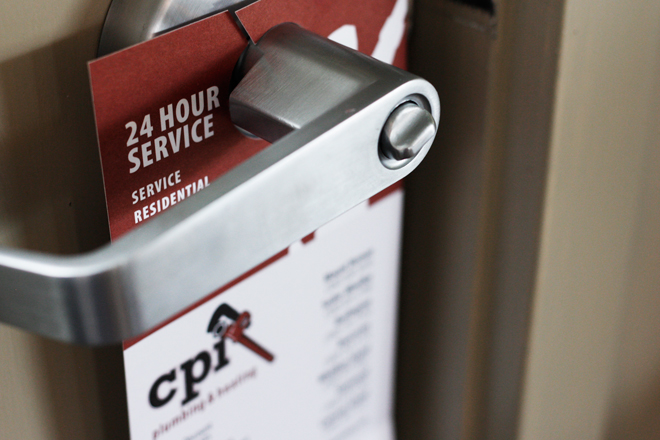 CPI Plumbing & Heating Door Hanger