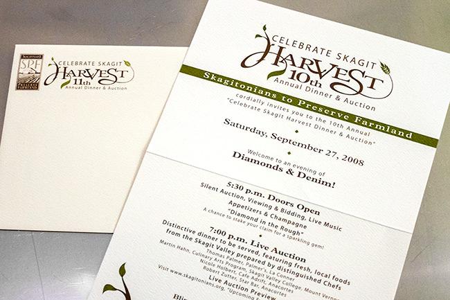 Celebrate Skagit Harvest Invitation