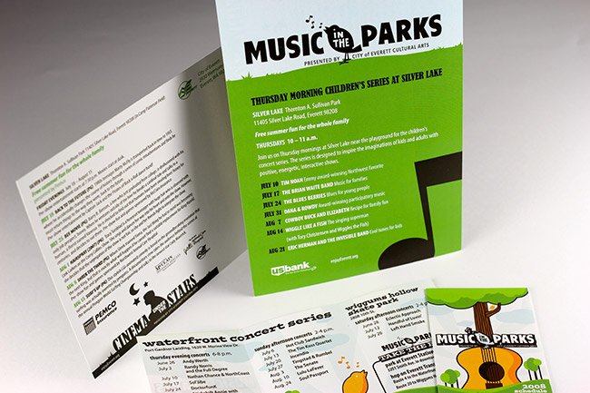 City of Everett Music in the Parks Brochure