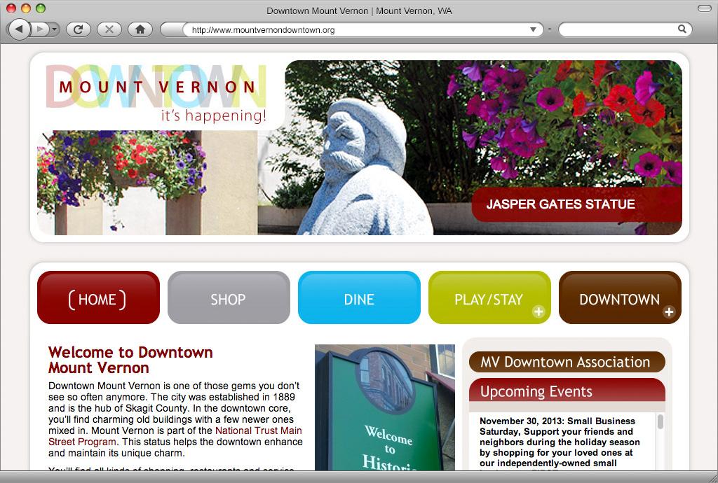 Mount Vernon Downtown Association Website