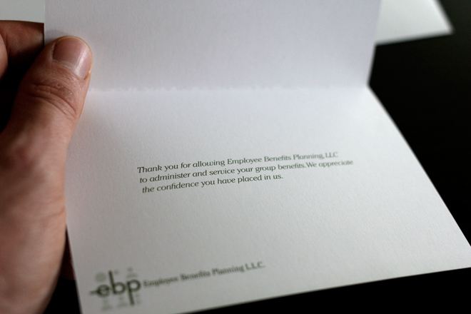 Employee Benefits Planning Thank You Card