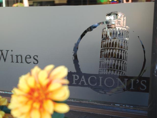 Pacioni's Italian Restaurant Signage