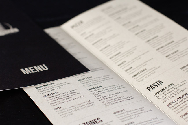 Pacioni's Italian Restaurant Menu