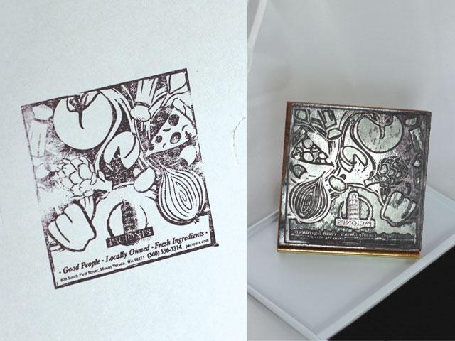 Pacioni's Italian Restaurant Pizza Box Stamp
