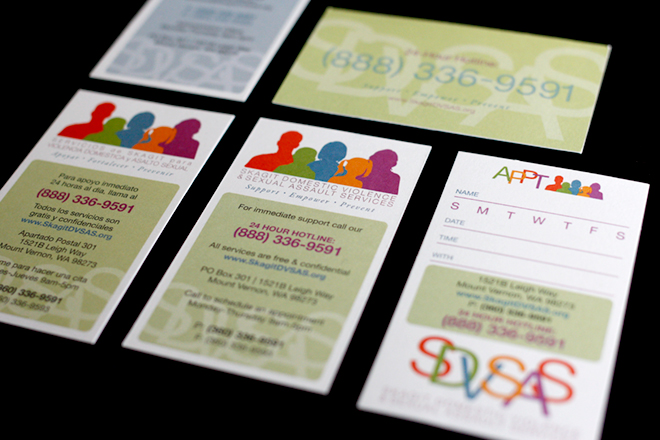 Skagit Domestic Violence & Sexual Assault Services Cards