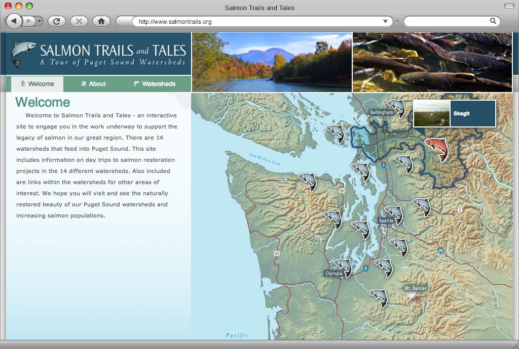 Salmon Trails & Tales Website Design