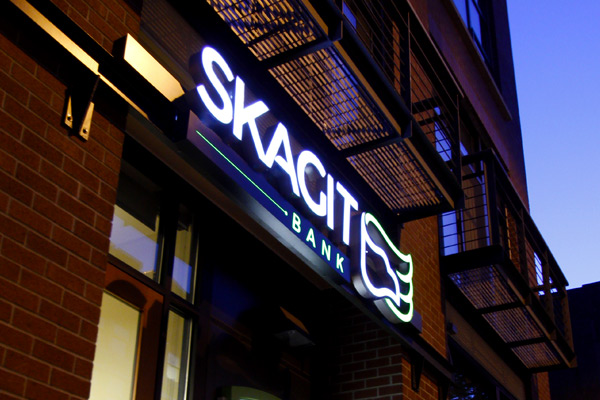 Skagit Bank Environmental Signage - Illuminated