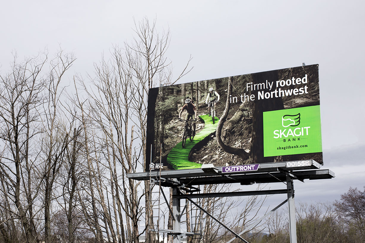 Skagit Bank Billboard Campaign Biking
