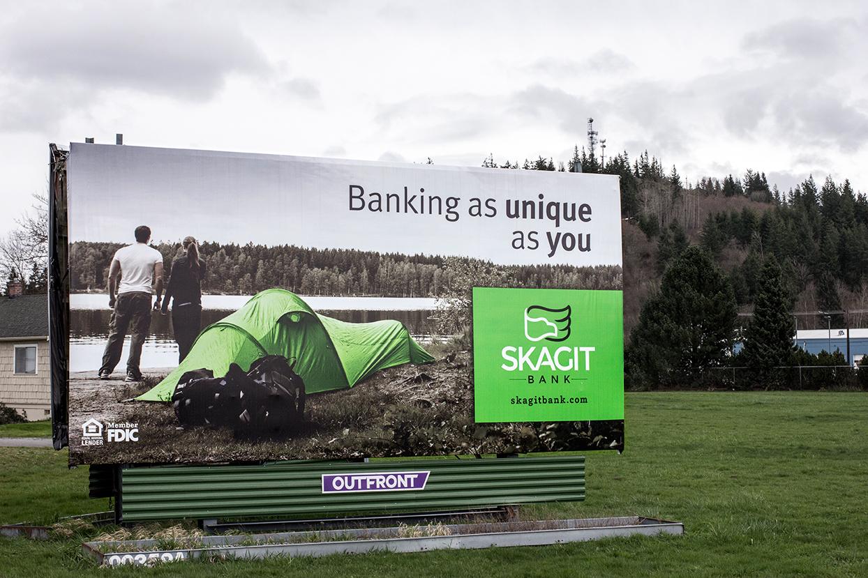 Skagit Bank Billboard Campaign Camping