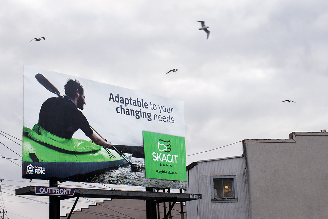 Skagit Bank Billboard Campaign Kayaking