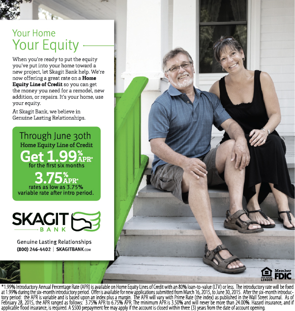 Skagit Bank Home Equity Lines of Credit Campaign Ad