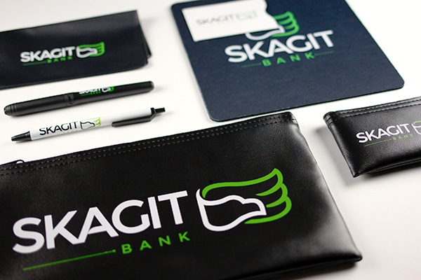 Skagit Bank Promotional Material - Mouse Pads, Pens