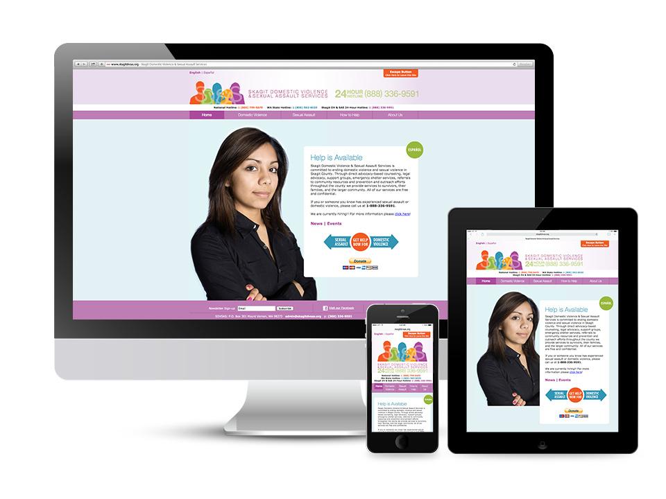 Skagit Domestic Violence & Sexual Assault Services Responsive Website