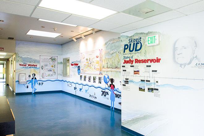 Skagit PUD Judy Reservoir Interior Wall and Interior Graphics