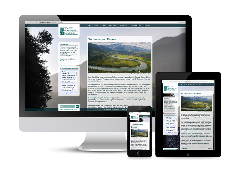 Skagit Watershed Council Responsive Website Design