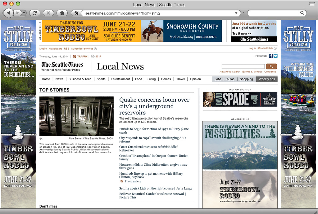 Visit Stilly Valley Campaign on the Seattle Times Website