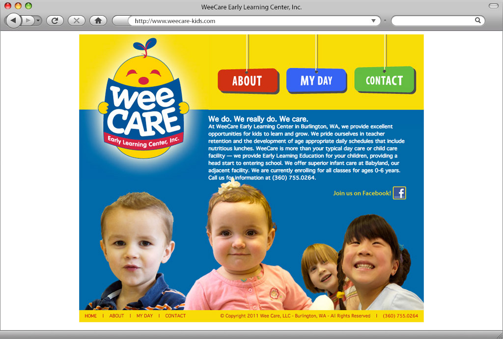 WeeCare Early Learning Center Website